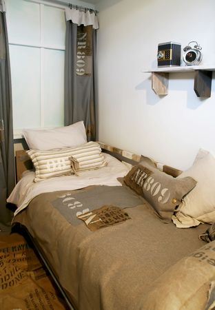 guest room: Children bedroom in military style