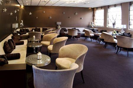 lounge: evening cafe Stock Photo