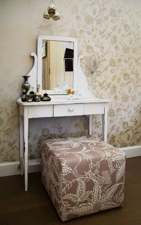 home interior with toilet table photo