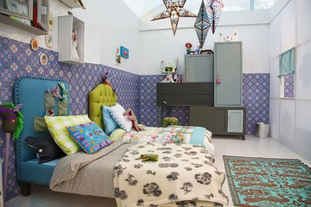 design of colorful children room  photo