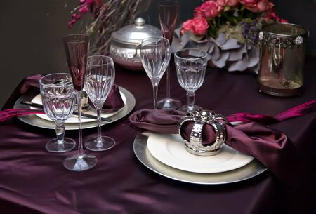 holiday table decoration for christmas  theme Stock Photo - 5963739