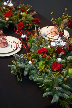 holiday table decoration for christmas  theme Stock Photo - 5963725