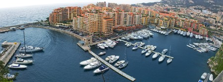 panorama of Monaco from garden above  Stock Photo - 6995210