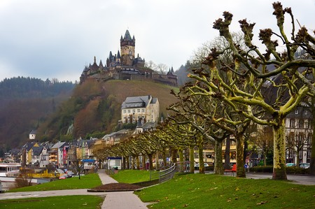 view from a river for cochem  photo
