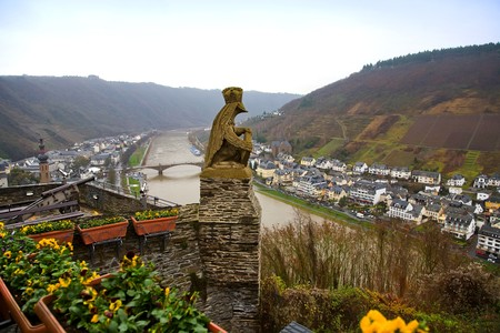 germany old town Cochem and view of river photo