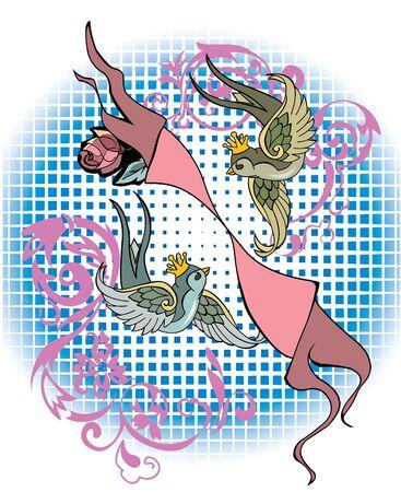 Signo de Géminis en tattoo estilo