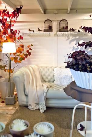 hölzerne Herbst Dekoration in Landhaus