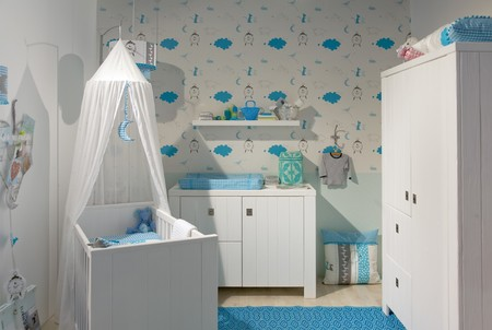 inter of designed in white color baby room Stock Photo - 8074387