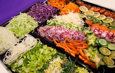 assortment of sliced vegetables Stock Photo - 8794510