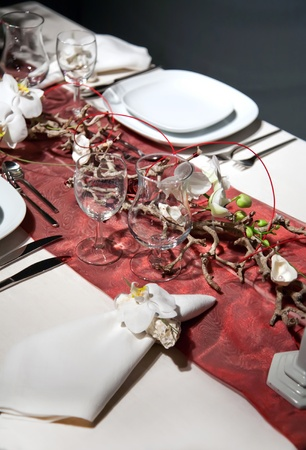 Celebration on table with Christmas decorations Stock Photo - 8794407