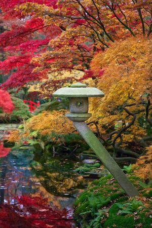 Japanese park by seasonal autumn time Reklamní fotografie