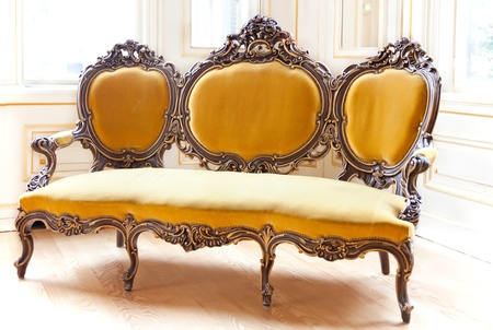 classic sofa in palace interior photo