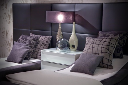 decorative elements in bed room Stock Photo - 9150843