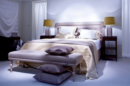 dubble bed in classic style Stock Photo - 9151026
