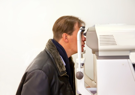 patient insite room with ophthalmological photo
