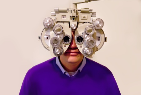 man by ophthalmologist  photo