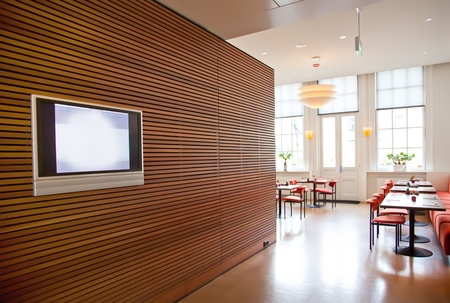 modern stylish wall in restaurant interior photo