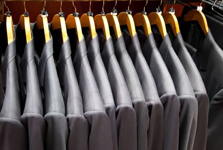 shop of man dress with suits  photo