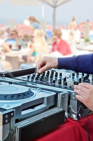dj mixer booth photo