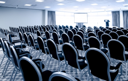 auditorium: interior of modern conference hall