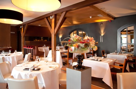 interior of modern restaurant in classic style Stock Photo - 9637034