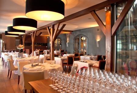 interior of modern restaurant in classic Stock Photo - 9637033
