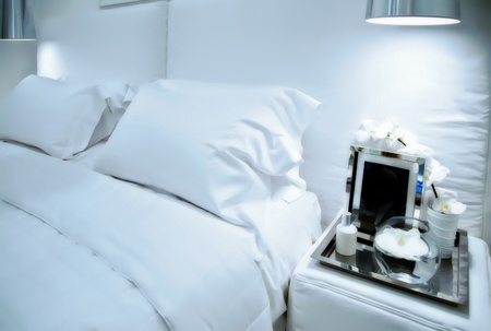 interior of white sleep room Stock Photo - 10536778