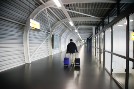 departure corridor in Amsterdam airport Stock Photo - 10536844