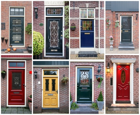 collage of typical dutch doors Stock Photo - 10578302