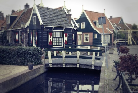 retro stylich old typical dutch village photo