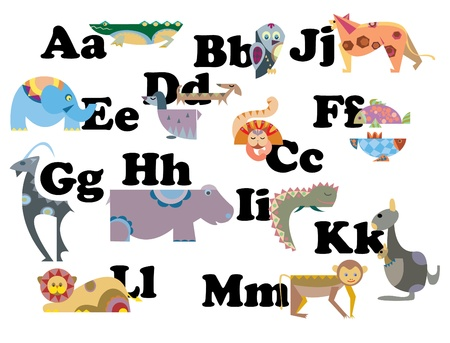 abc animal Vector