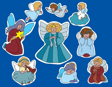family of angels Vector