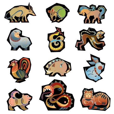 animal china horoscope  Vector