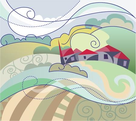 France landscape  Vector