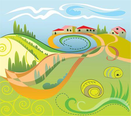Italian landscape  Vector