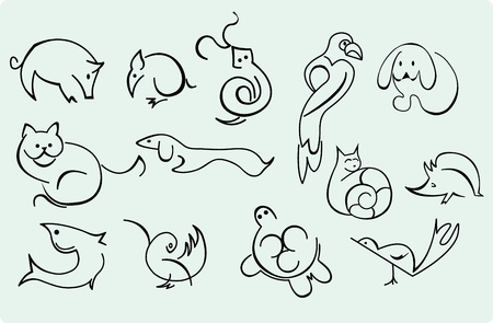 home animals  Vector
