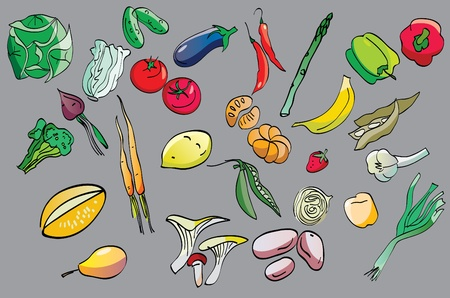 onions: clip-art of fruits and vegetables