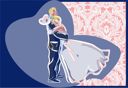 sexual couple: wedding day  Illustration