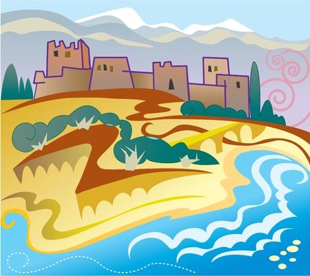 Spain landscape  Vector