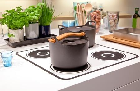 cocinas industriales: detalle de la cocina con placa de cocina