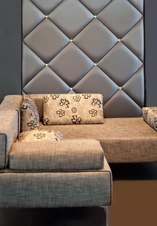 cozy corner with sofa in living room photo