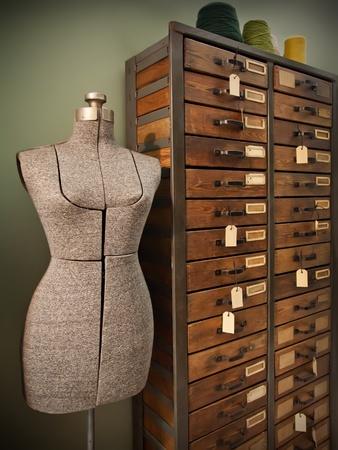 mannequin: mannequin pour la modélisation de la conception de robe femme Banque d'images