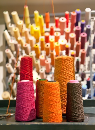 textile industry: industrial textile threads