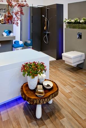bath room with seasonal decoration at home photo