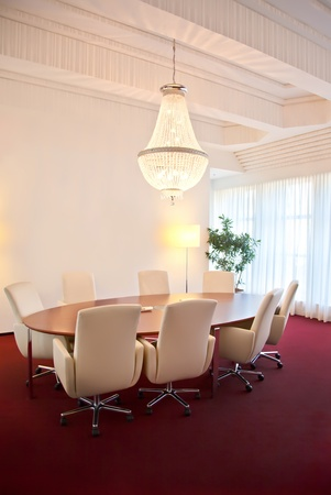 interior of luxury meeting room photo