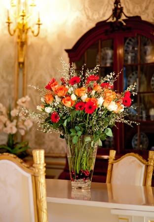 flowers in luxury interior photo