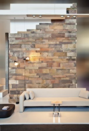 detail of home interior with brick wall photo