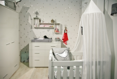 interior of designed in white color baby room Stock Photo - 12849650