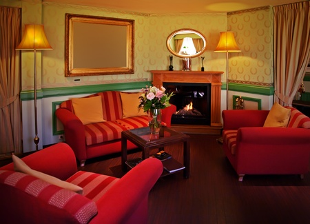 classic lounge room in hotel  photo