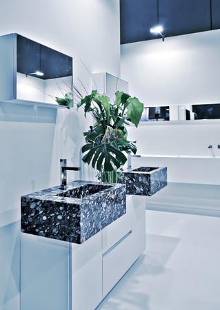 detail of interior of modern toilette room photo